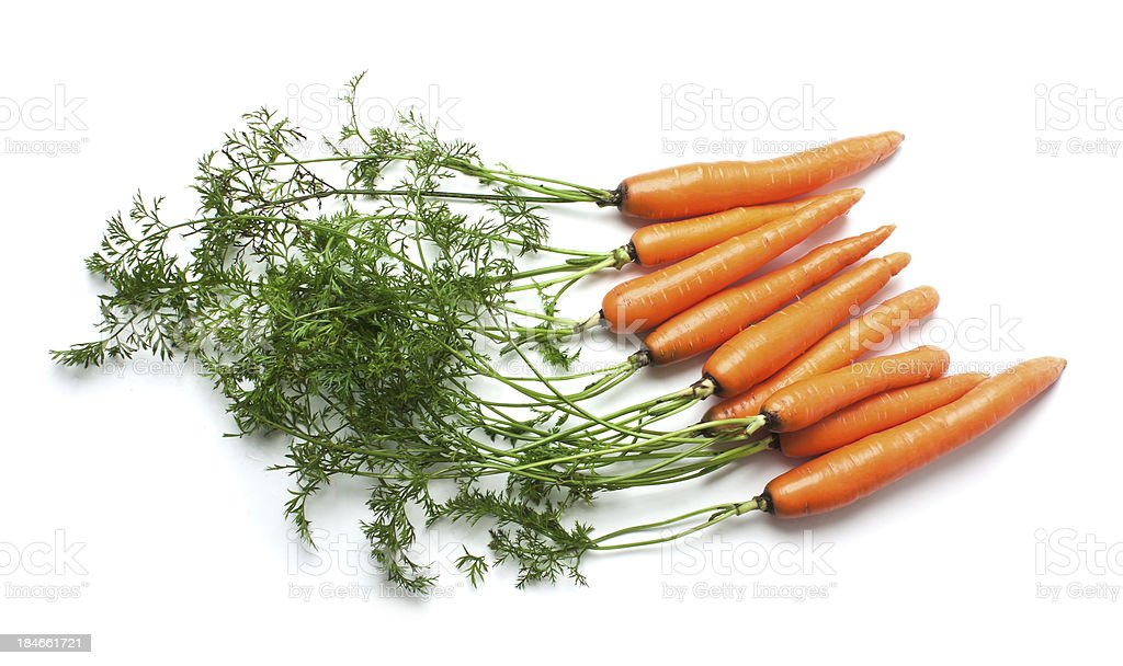 carrots with green tops royalty-free stock photo