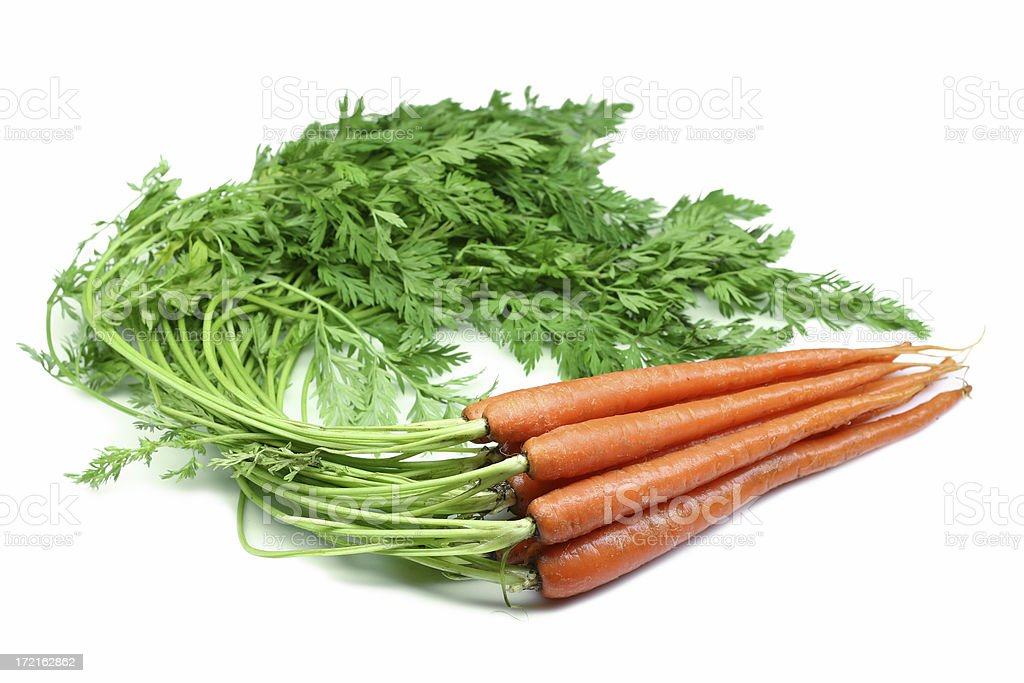 carrots with tops royalty-free stock photo