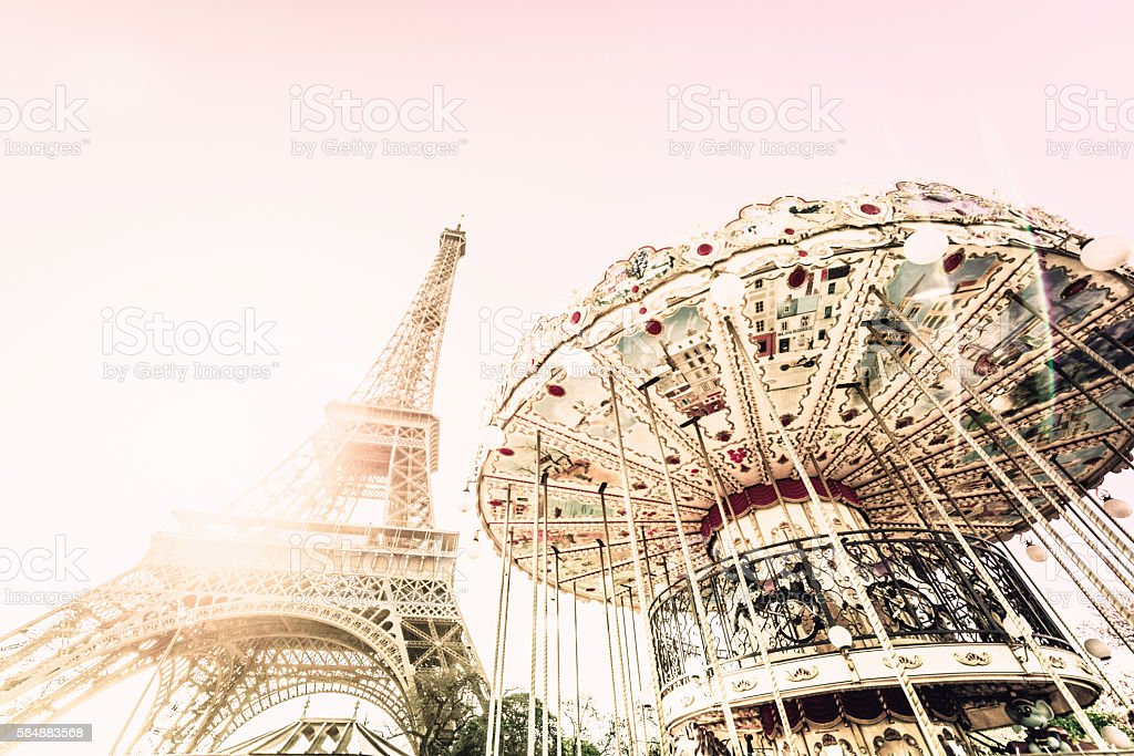 Carrousel in Paris stock photo