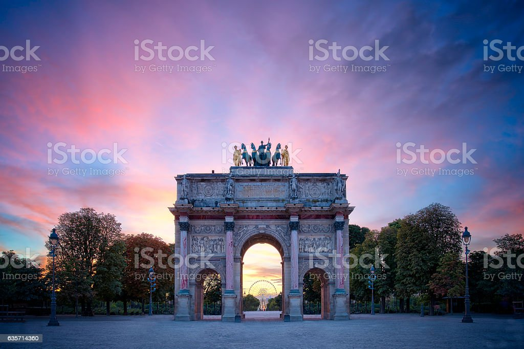 Carrousel Louvre stock photo