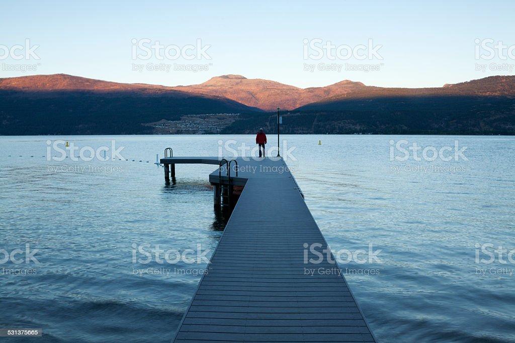 Carr`s Landing Lake Country Kelowna British Columbia stock photo