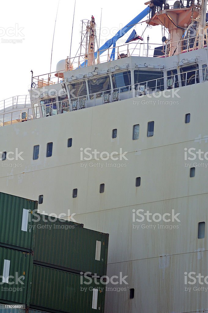 carry containers to quay royalty-free stock photo