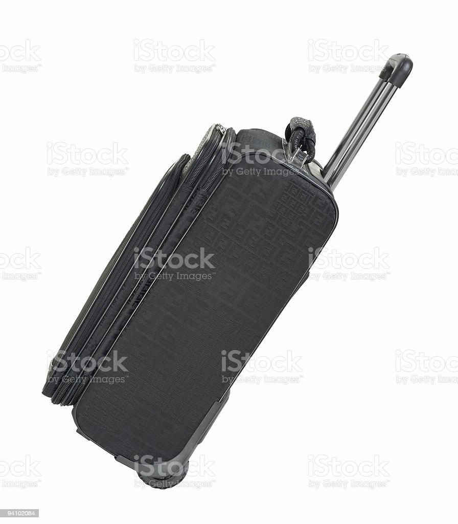 Carry on luggage tilted cutout royalty-free stock photo
