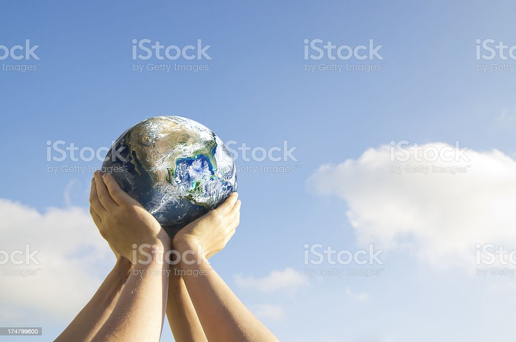 Carry the Earth royalty-free stock photo