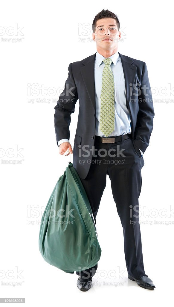 Carrying bag-  Laundry Series stock photo