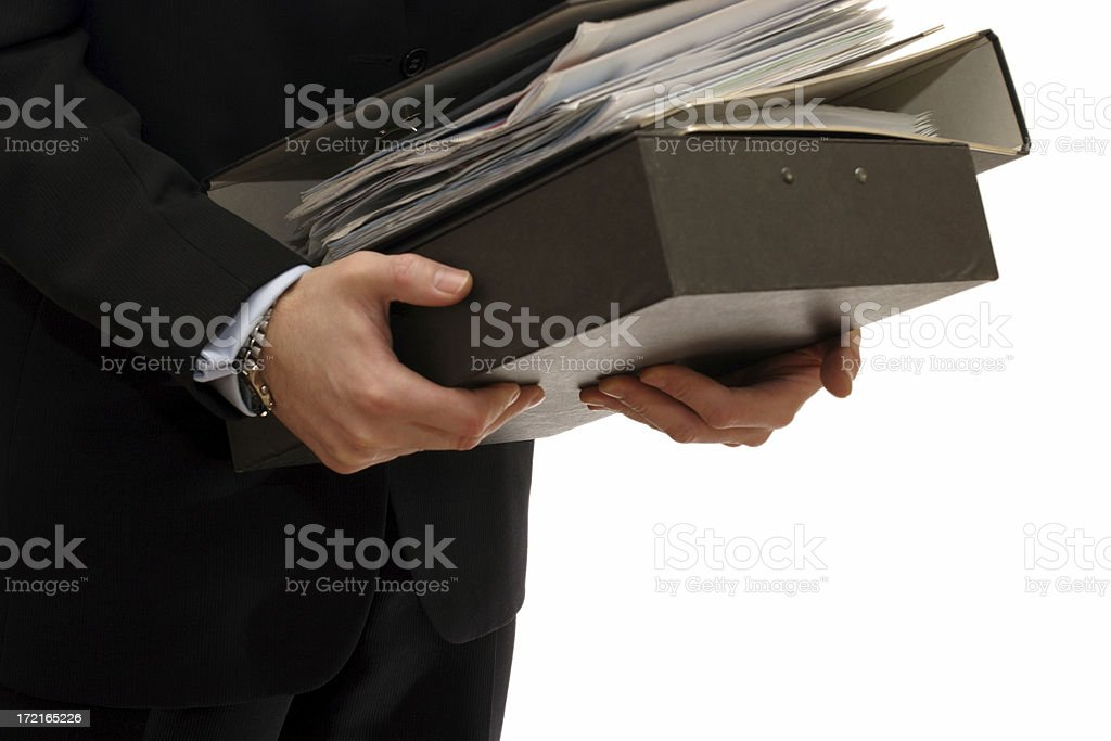 Carrying business files royalty-free stock photo