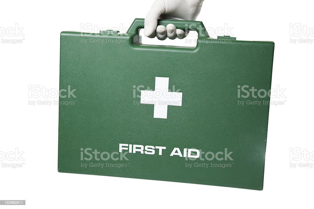 Carrying first aid case. royalty-free stock photo