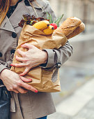 Carrying grocery bag