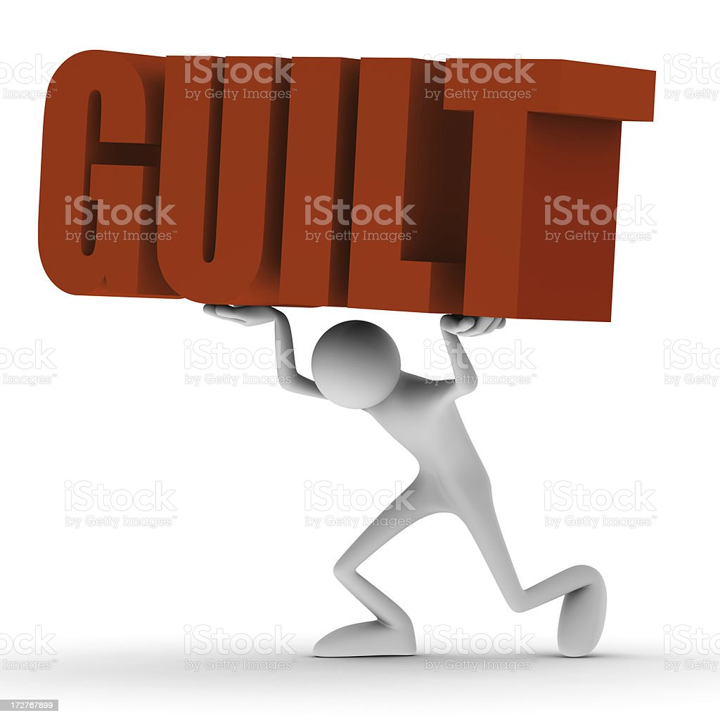 Carrying guilt stock photo