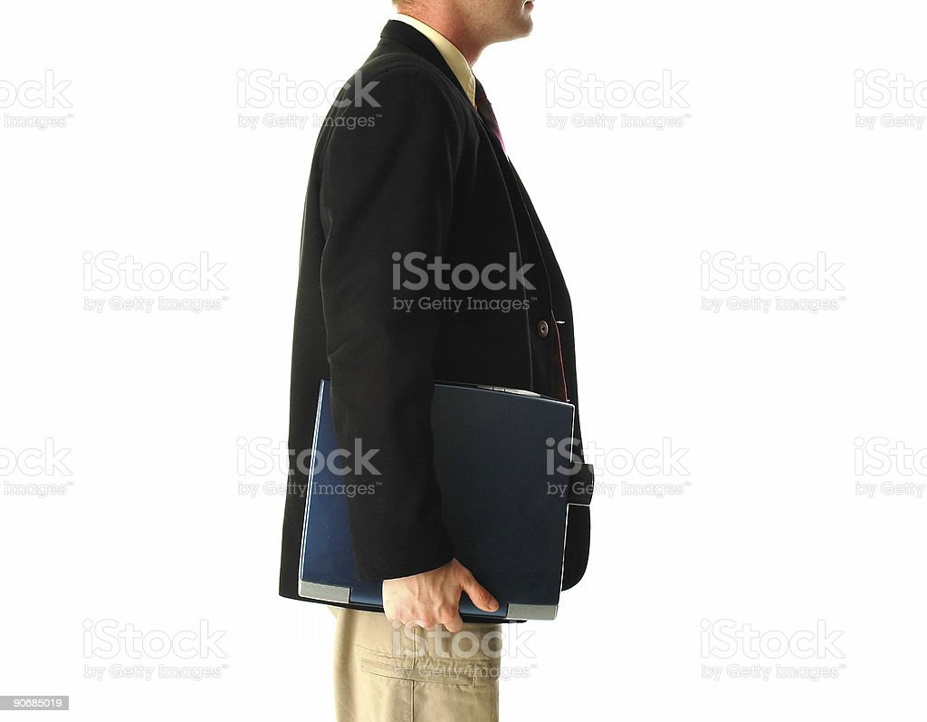 Carrying laptop royalty-free stock photo
