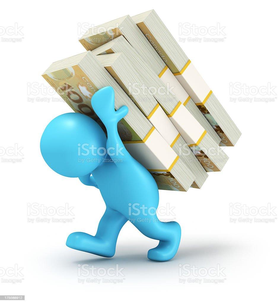 Carrying Money stock photo