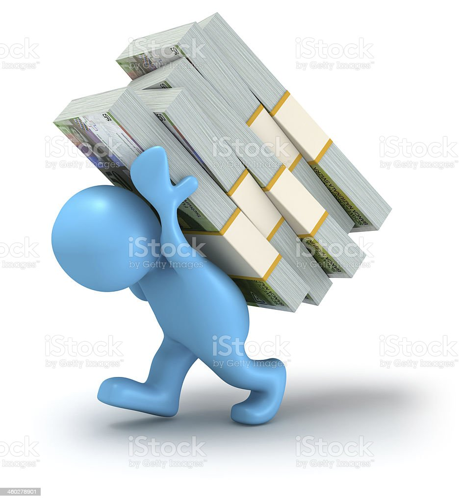 Carrying Money. Swiss Francs. royalty-free stock photo