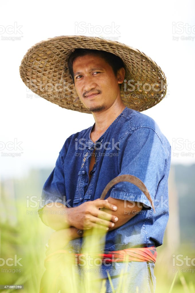 Carrying on with his family's tradition stock photo