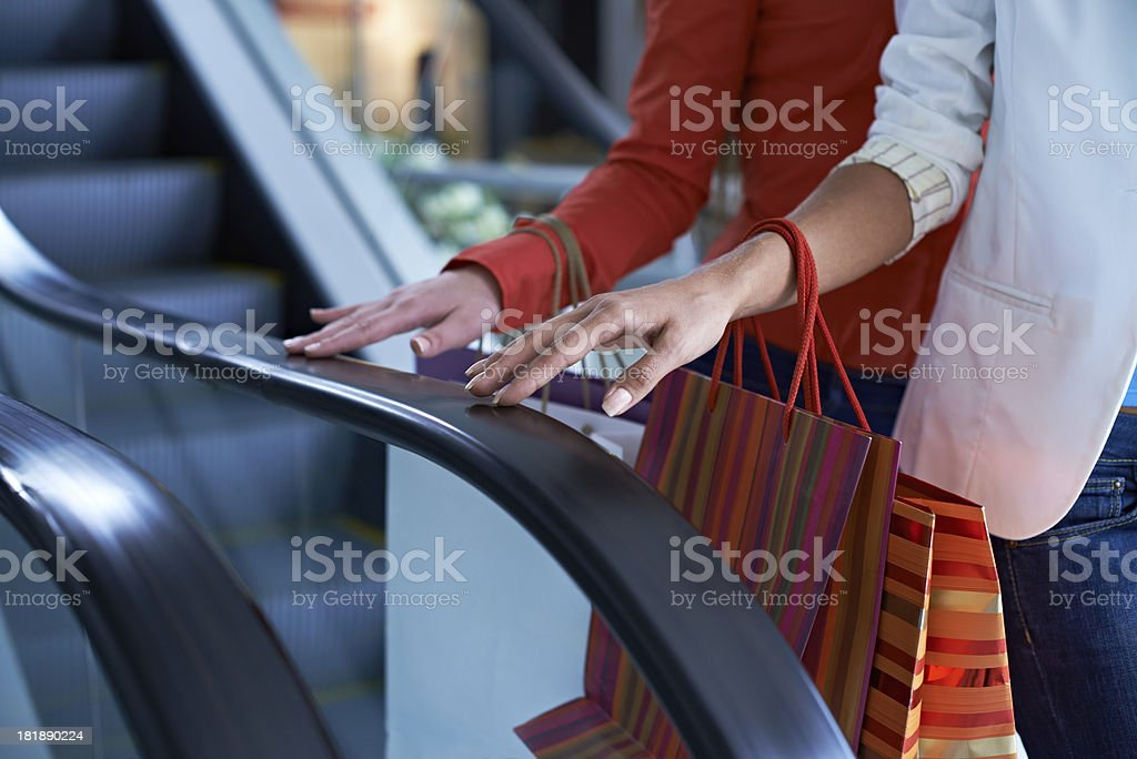 Carrying shopping bags royalty-free stock photo