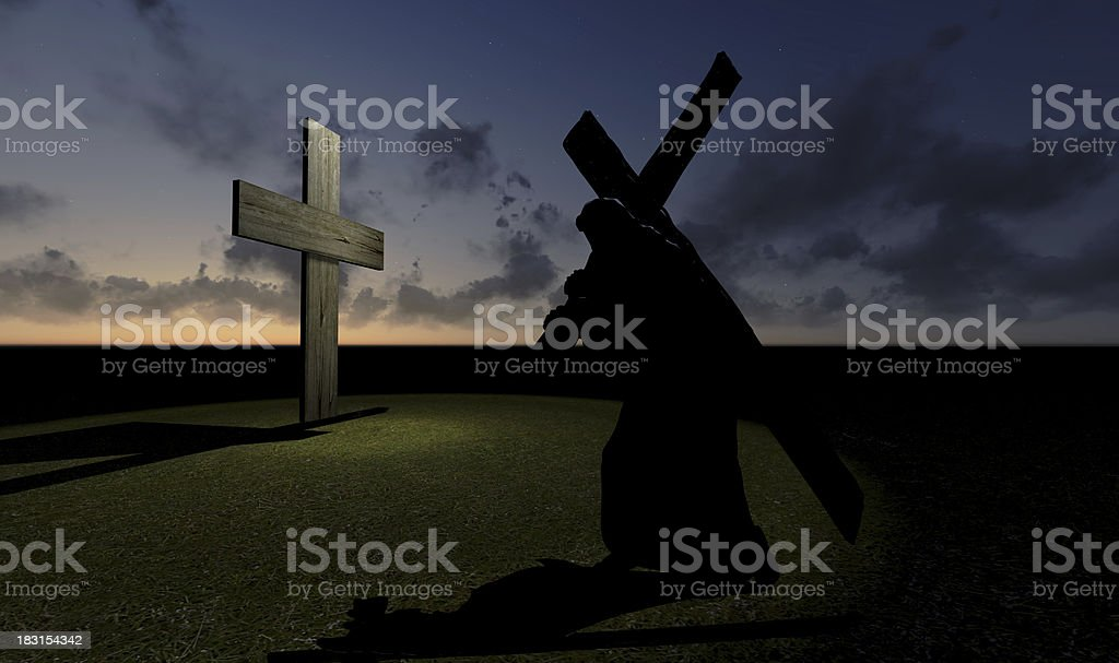Carrying the Cross royalty-free stock photo