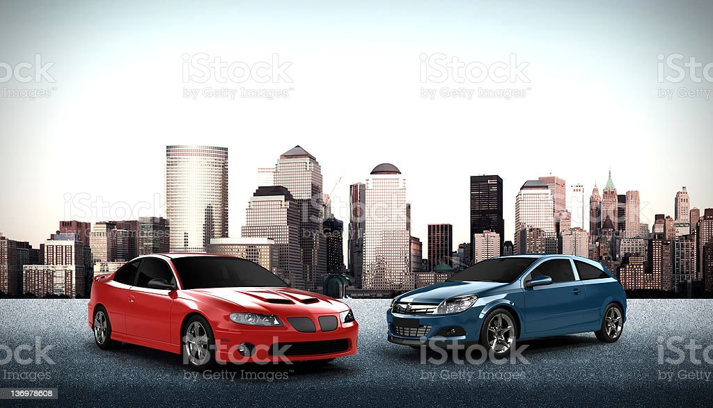 Cars 3D Render royalty-free stock photo