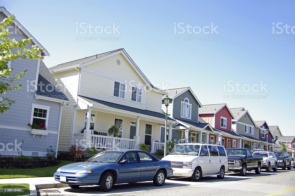 Cars and Homes royalty-free stock photo