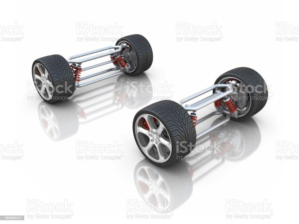 car's axles royalty-free stock photo