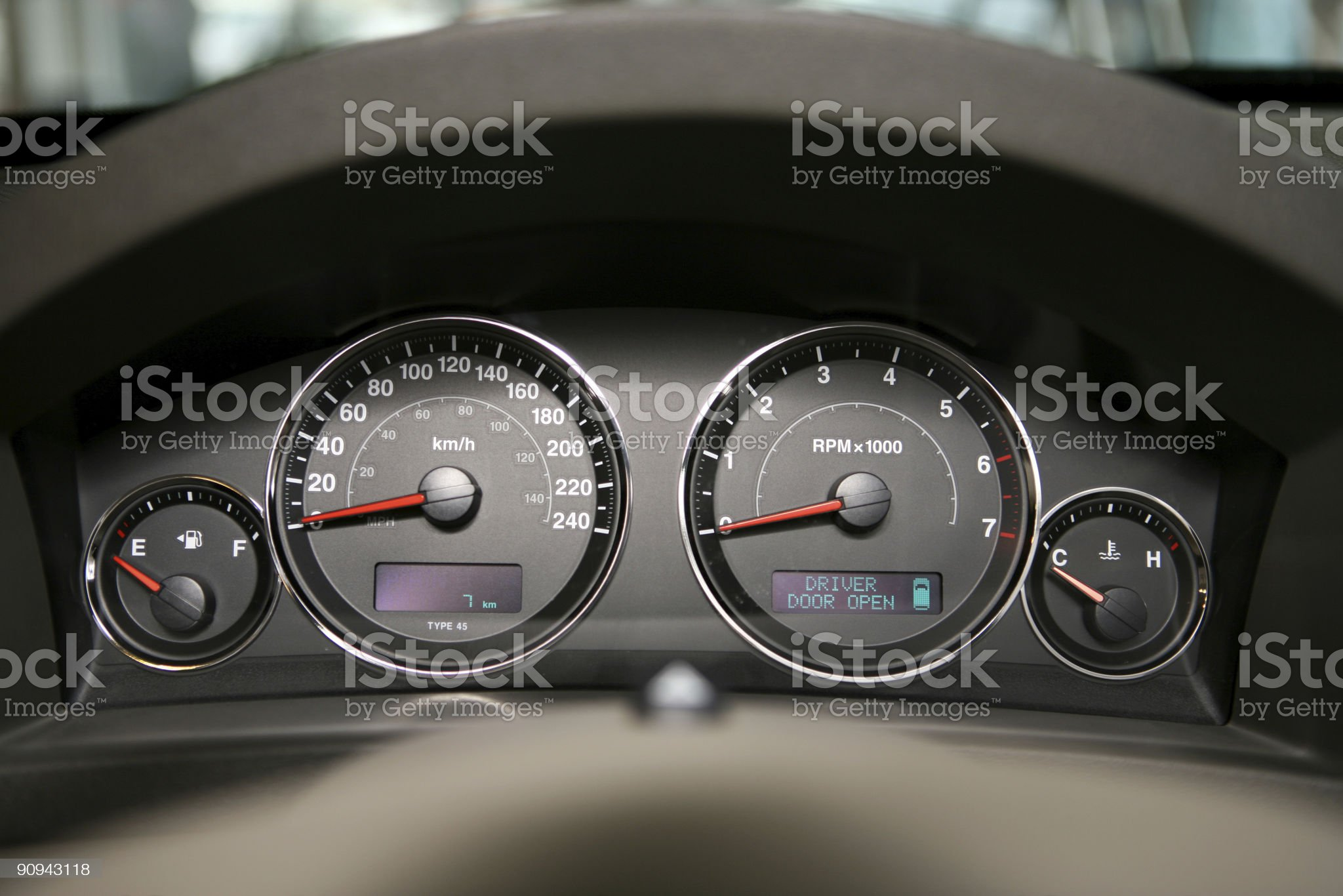 cars dashboard royalty-free stock photo