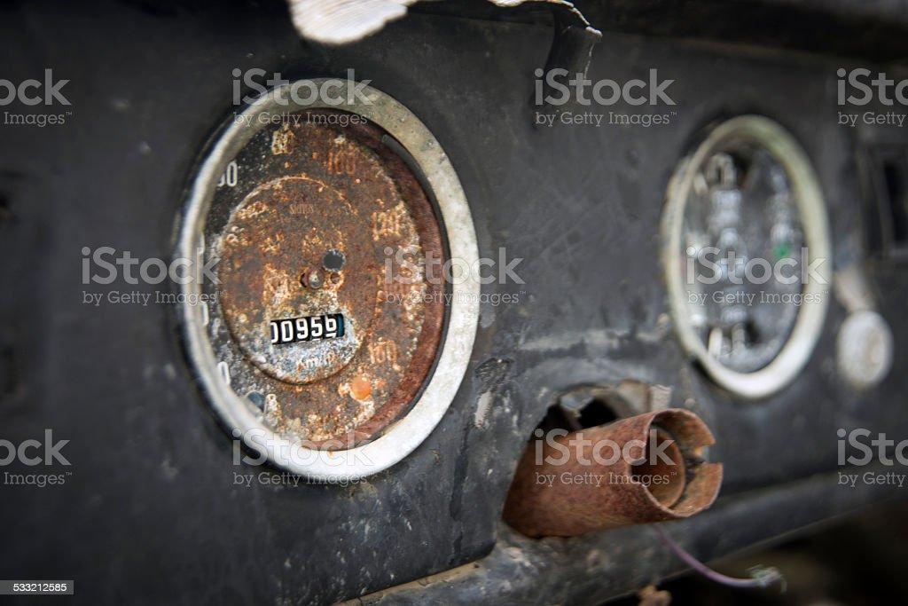 Cars dials stock photo