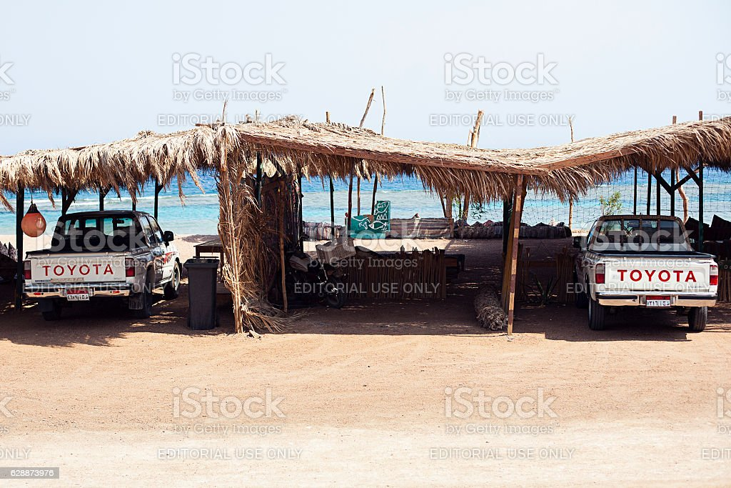 Cars Egypt safari tourism stock photo
