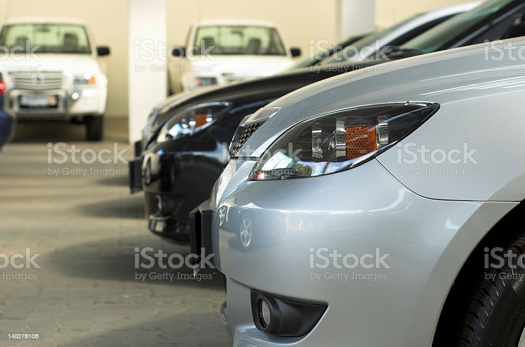 Cars for sale royalty-free stock photo