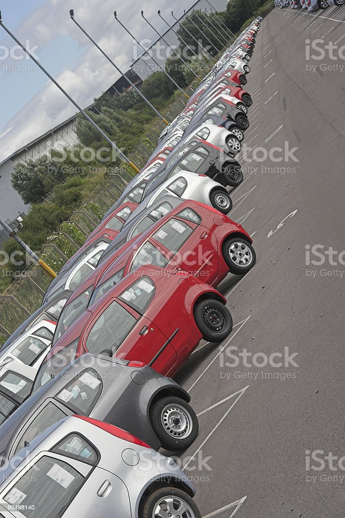 Cars galore stock photo