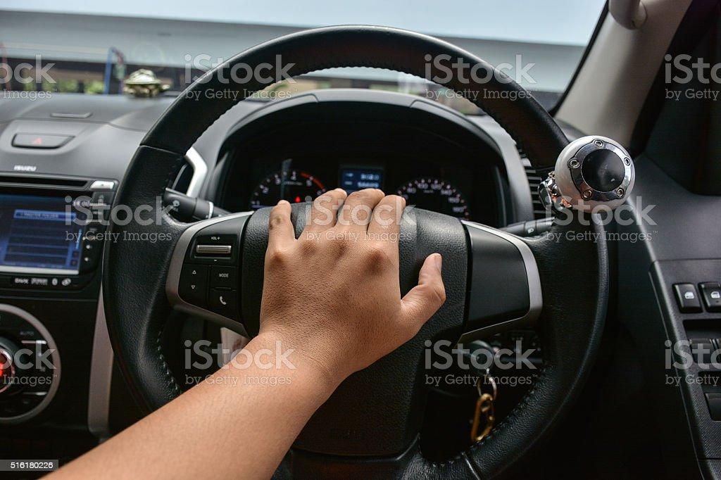 Cars honk stock photo