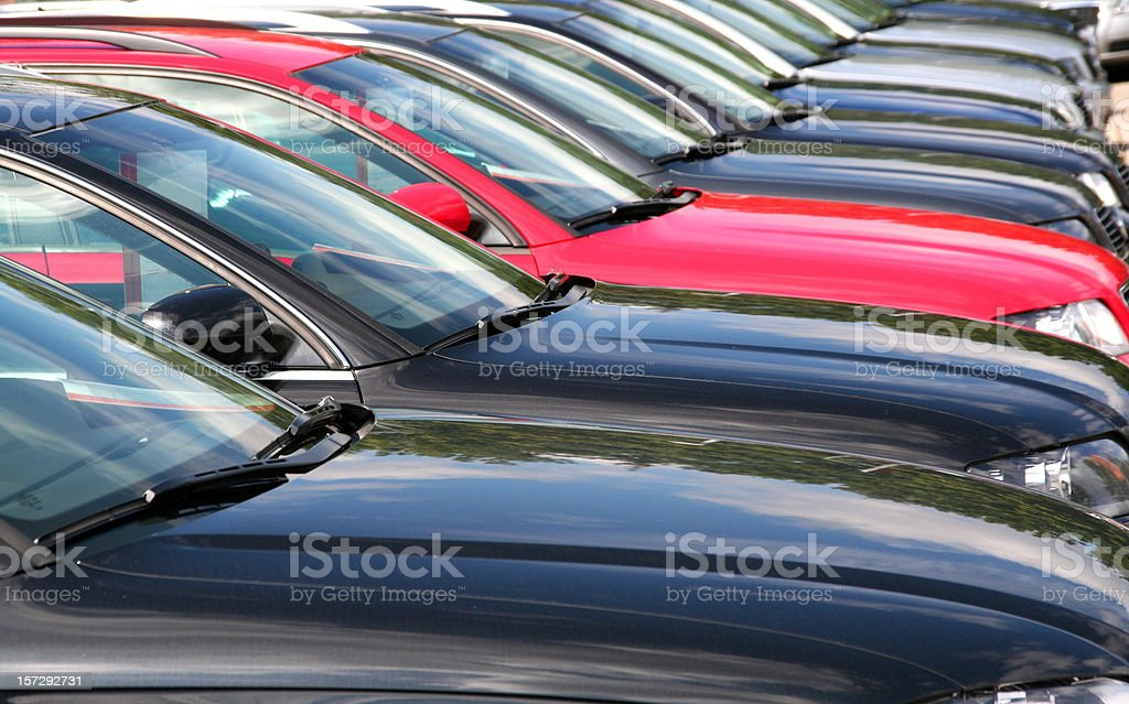 cars in a row royalty-free stock photo
