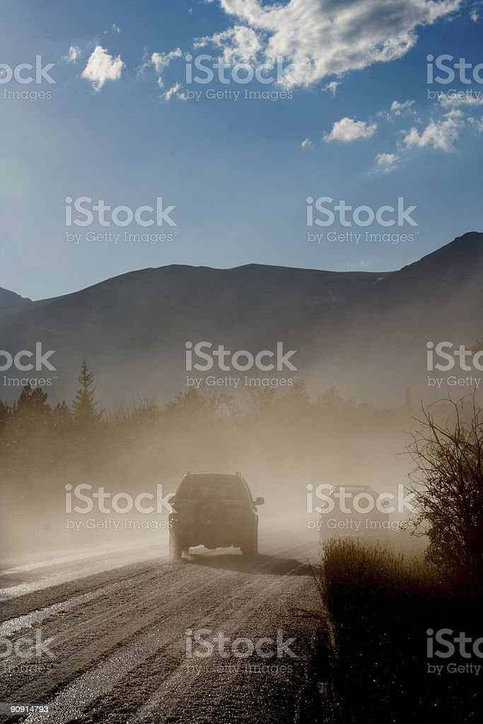 Cars in mist royalty-free stock photo