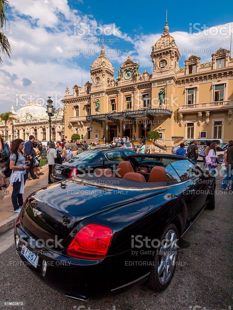Cars in Monte Carlo, Monaco stock photo
