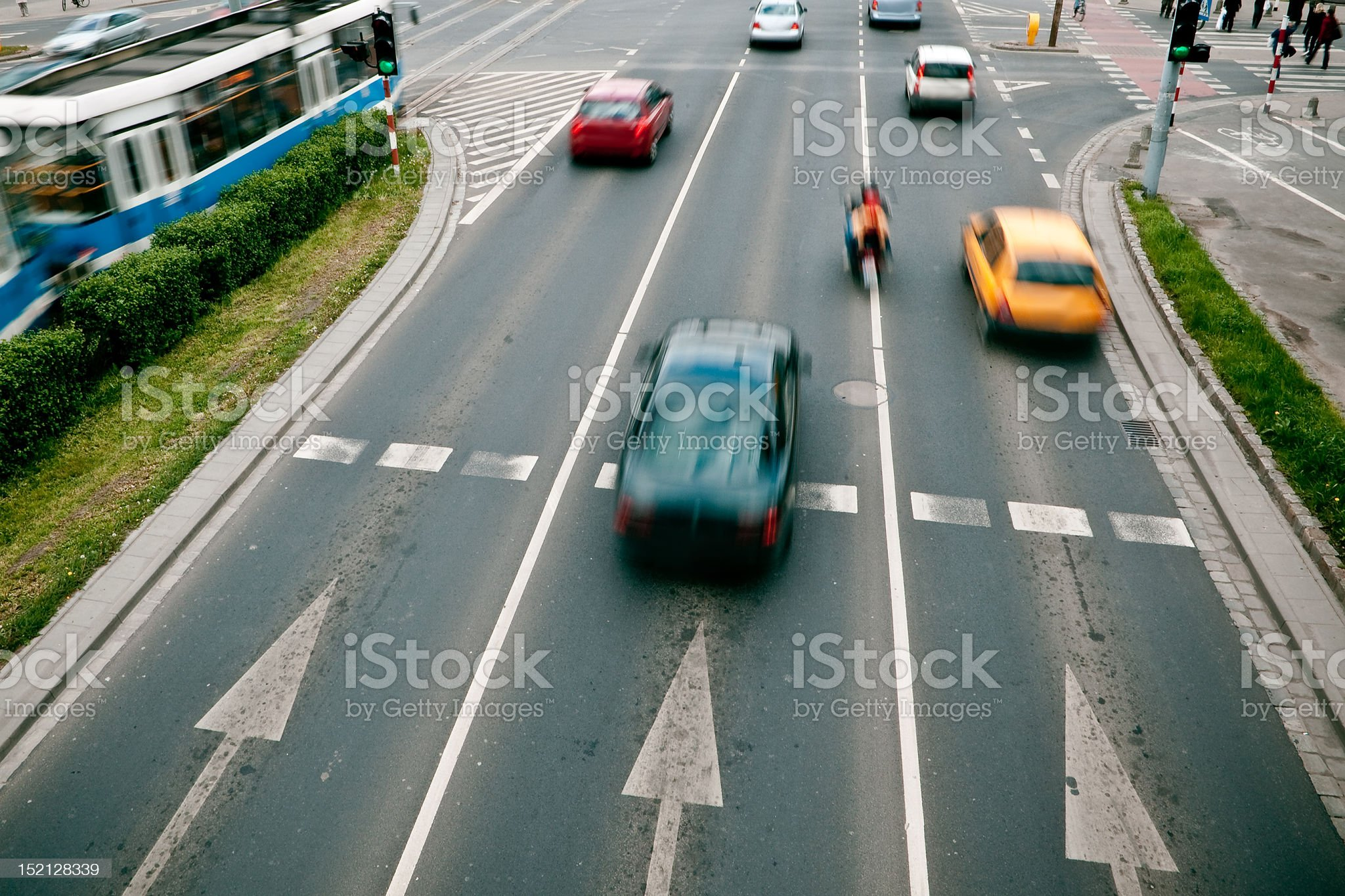 Cars in motion blur royalty-free stock photo