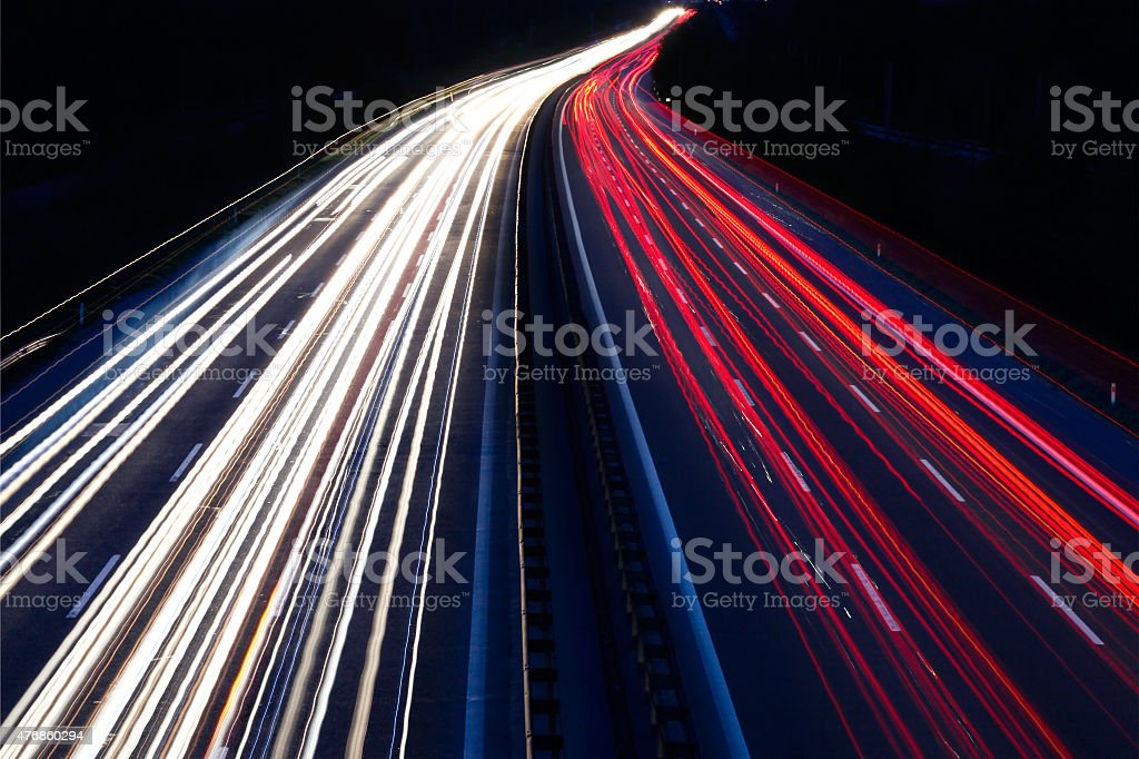 Cars in motion stock photo