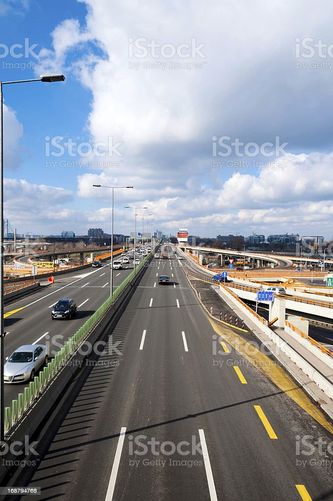 Cars in move royalty-free stock photo