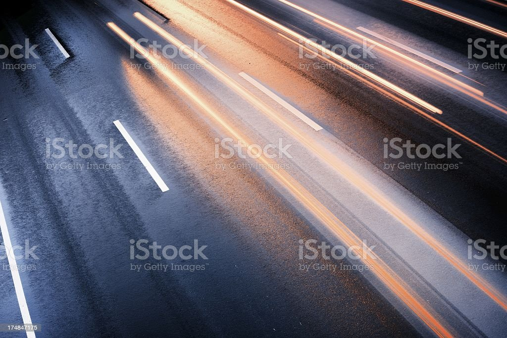Cars in rush hour royalty-free stock photo