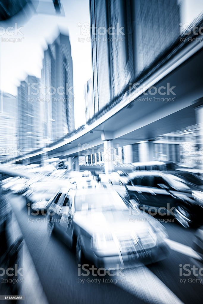 Cars in rush hour with traffic royalty-free stock photo