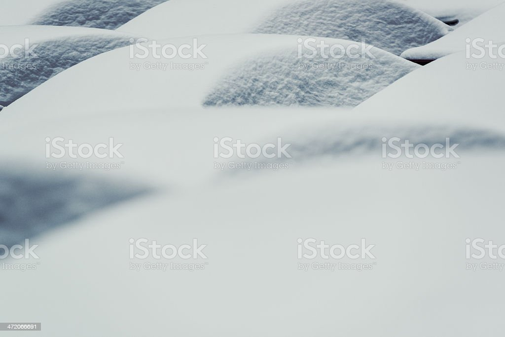 Cars in Snow royalty-free stock photo