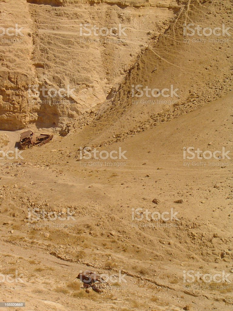 Cars in the Desert royalty-free stock photo