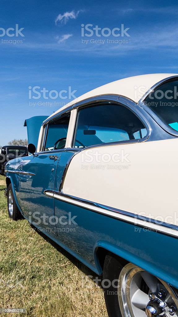 Cars in the Park stock photo