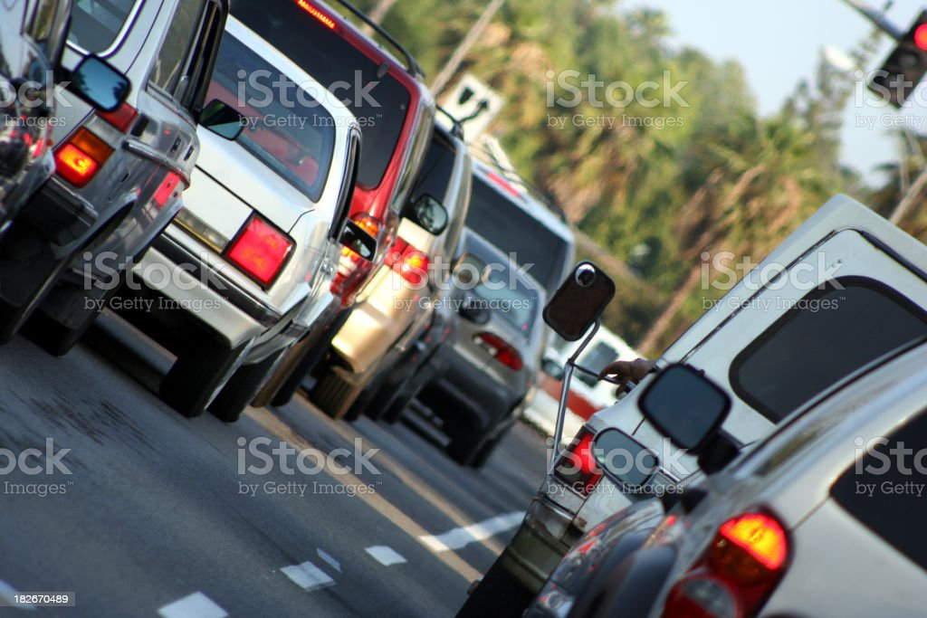 Cars in Traffic royalty-free stock photo