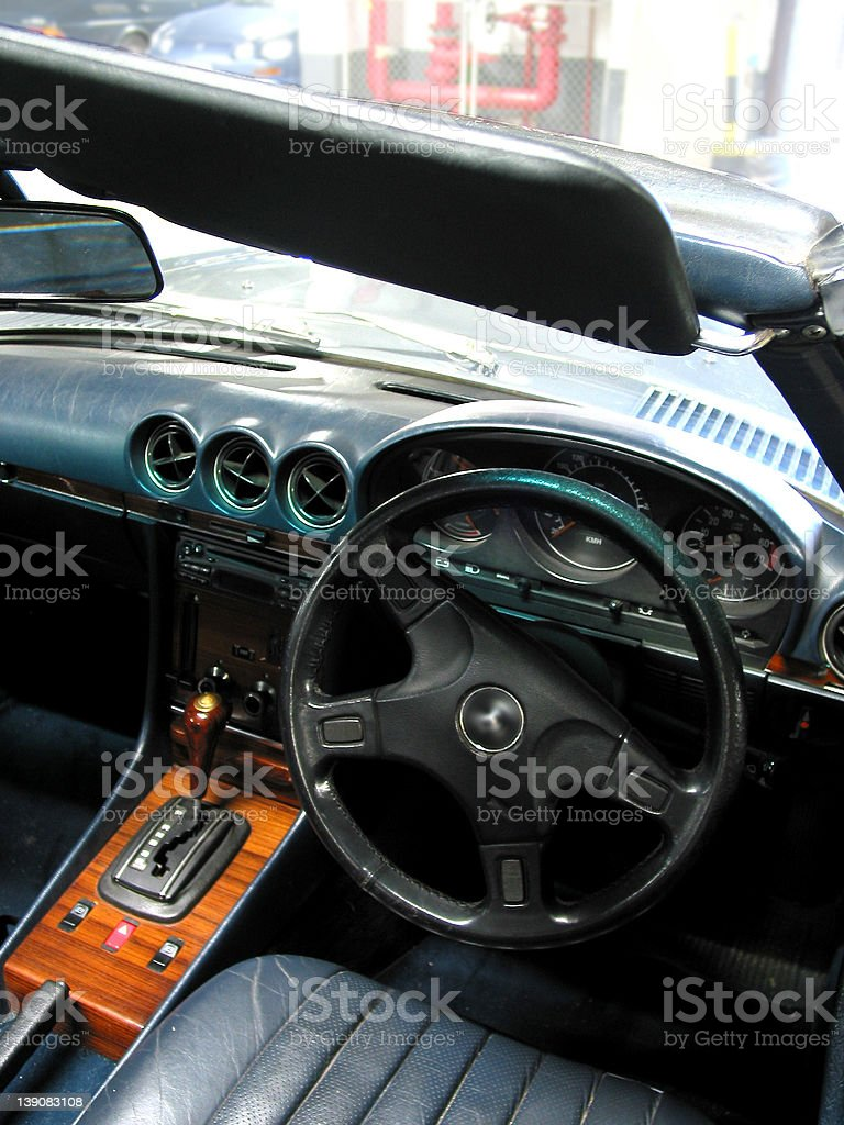 cars - inside a Mercedes sports car stock photo