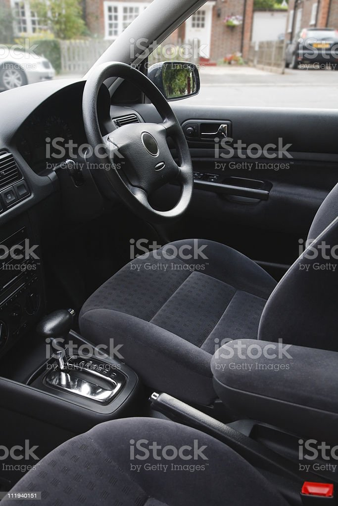 Cars interior on a car in the UK stock photo