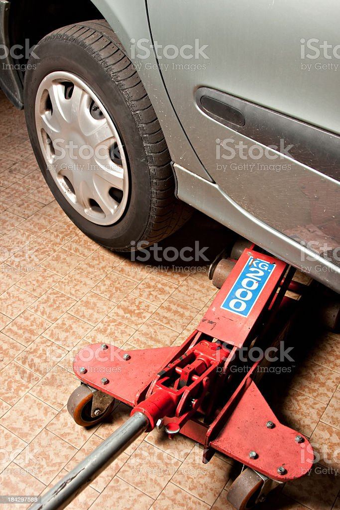 cars lifted off the ground royalty-free stock photo