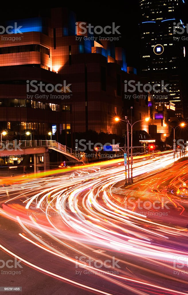 Cars light in city royalty-free stock photo