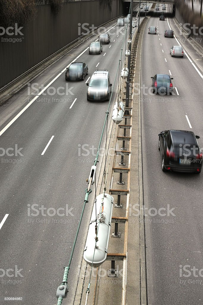 Cars on a Highway royalty-free stock photo
