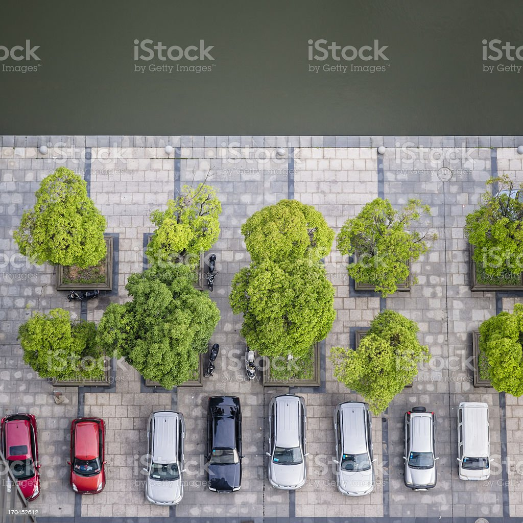 Cars on a Parking Lot royalty-free stock photo