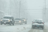 Cars on a Snowy Day