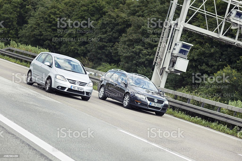 Cars on german highway A3 royalty-free stock photo
