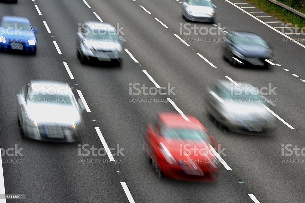 Cars on the Motorway - Stock Photo stock photo