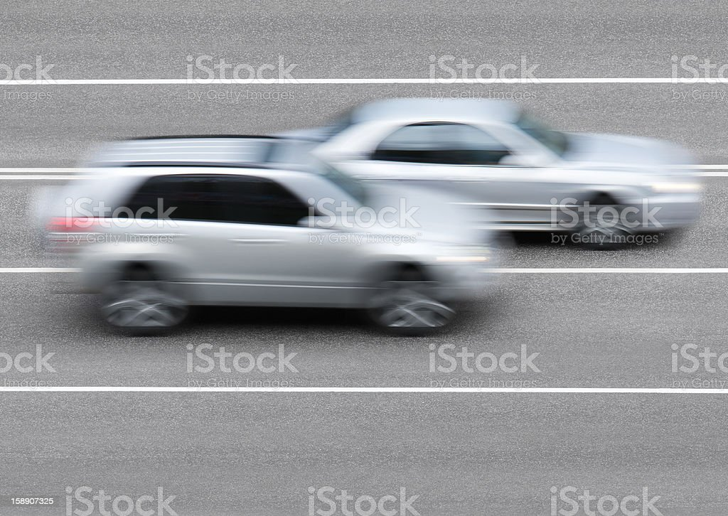 Cars on the road royalty-free stock photo